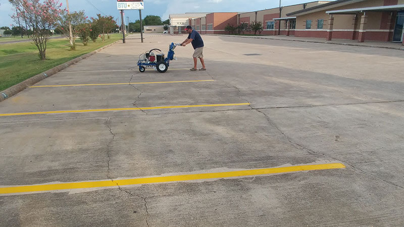 Handicap Space - After Parking Lot Striping - Between the Lines Striping, Waller, Texas
